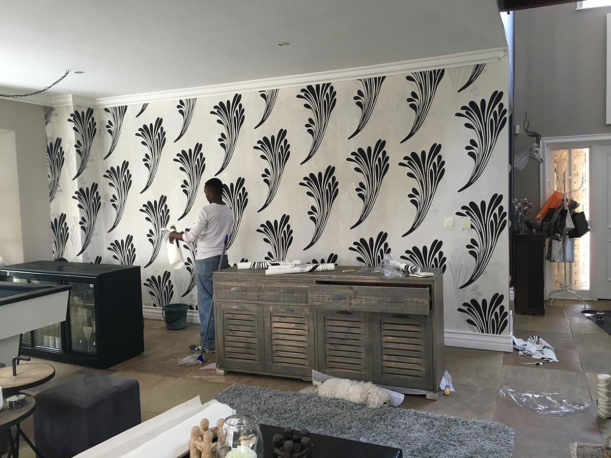 Before After Wallpaper Installation Digital Colour Bar